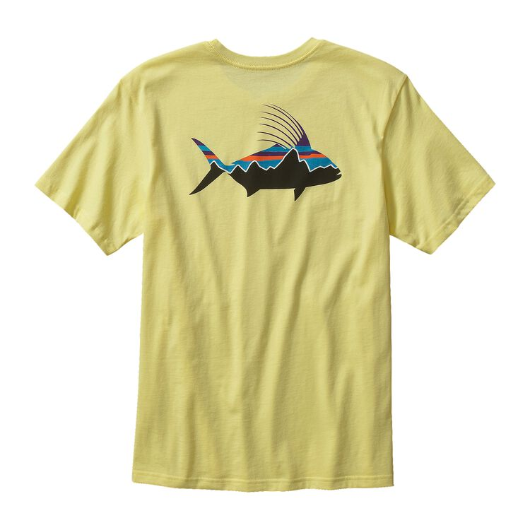 M'S FITZ ROY ROOSTER COTTON T-SHIRT, Lite Blazing Yellow (LBZY)