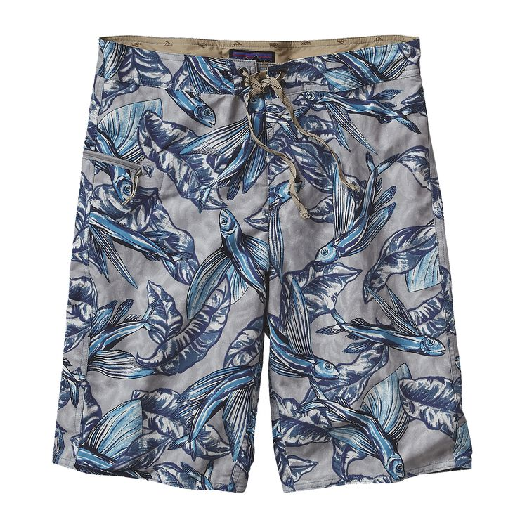 M'S PRINTED WAVEFARER BOARD SHORTS - 21, Hawaiian Fish: Tubular Blue (HWTB)