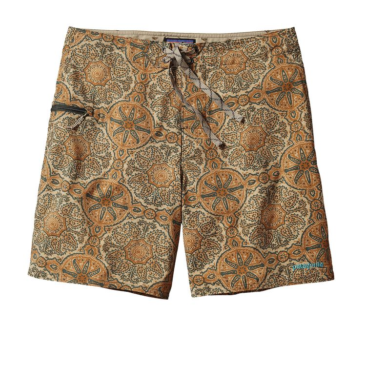 M'S PRINTED STRETCH PLANING BOARD SHORTS, Mandy: Ash Tan (MYAT)
