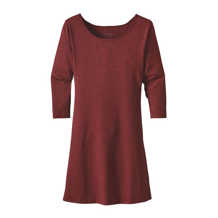 W'S 3/4 SLEEVE SEABROOK DRESS, Drumfire Red (DRMF)