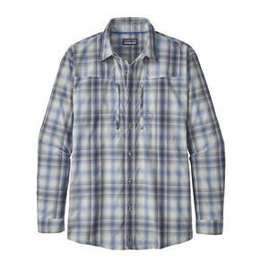 M's Long-Sleeved Sun Stretch Shirt, King Swing: Radar Blue (KISR)