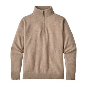 M's Recycled Cashmere 1/4-Zip Sweater, Mojave Khaki (MJVK)