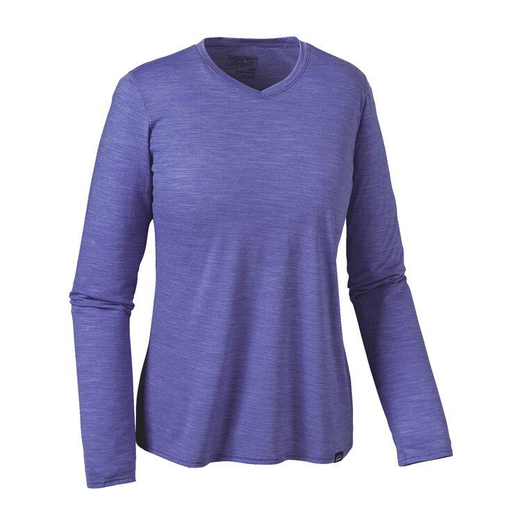 W'S L/S MERINO DAILY V-NECK T-SHIRT, Violet Blue (VLTB)
