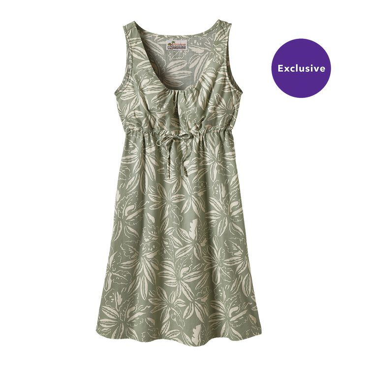 W'S LIMITED EDITION PATALOHA DRESS, Tropical: Distilled Green (TPDG)