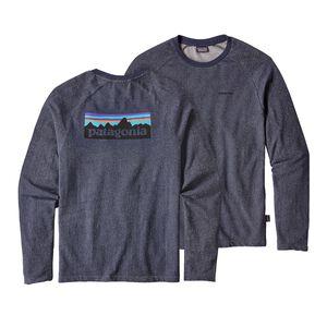 メンズ・P-6 ロゴ・ライトウェイト・クルー・スウェットシャツ, Navy Blue (NVYB)