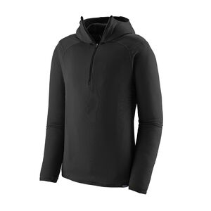 M'S CAP TW ZIP NECK HOODY, Black (BLK)