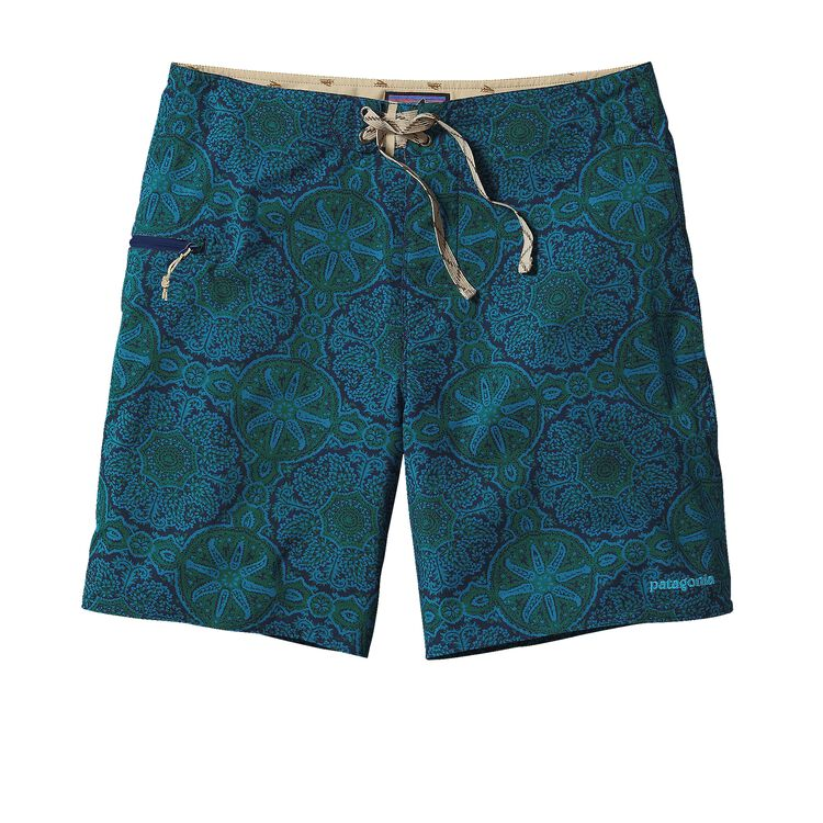 M'S PRINTED STRETCH PLANING BOARD SHORTS, Mandy: Navy Blue (MDYN)