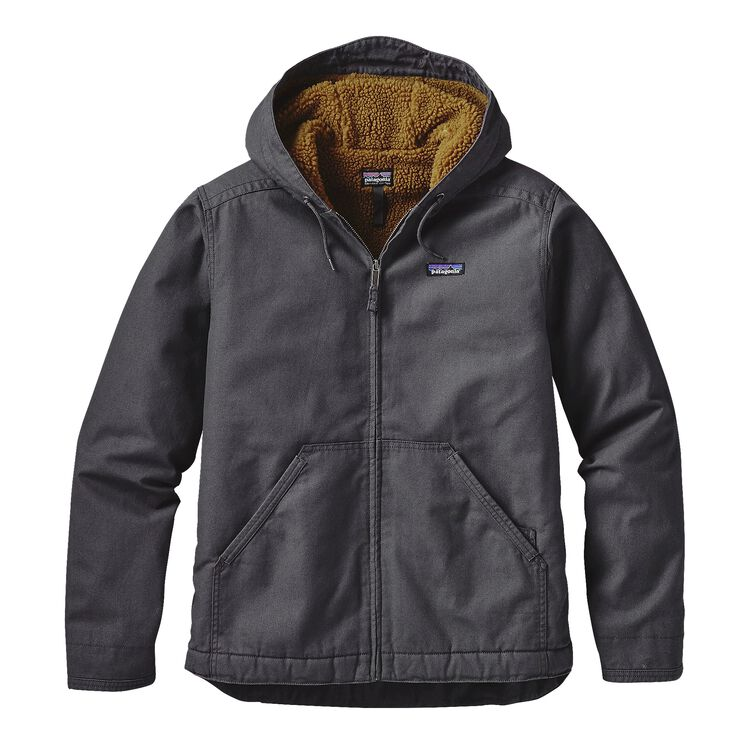 M'S LINED CANVAS HOODY, Forge Grey (FGE)