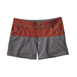 ウィメンズ・カラーブロック・ストレッチ・ウェーブフェアラー・ショーツ(股下10cm), Cinder Red (CDRR)