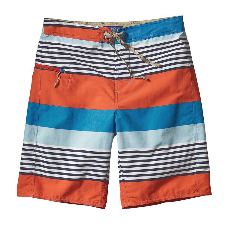 M'S PRINTED WAVEFARER BOARD SHORTS - 21, Fitz Stripe: Catalyst Blue (FZCY)