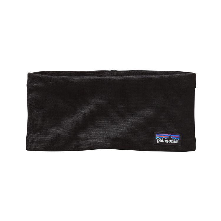 LINED KNIT HEADBAND, Black (BLK)