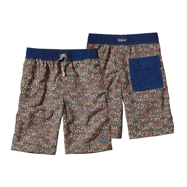 BOYS' PAPAGAYO BAGGIES SHORTS, Dancing Palms: Light Bog (DPBG)