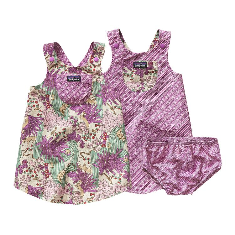 BABY REVERSIBLE BAGGIES JUMPER, Cactus Critters: Mock Purple (CTMP)