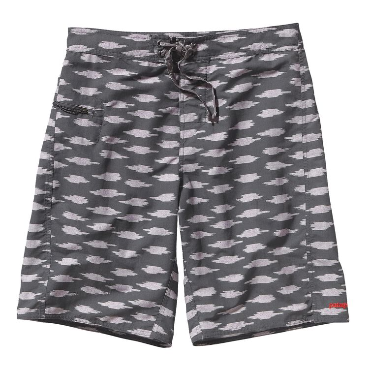 M'S WAVEFARER BOARD SHORTS - 21 IN., Ikat Blocks: Forge Grey (ITFG)