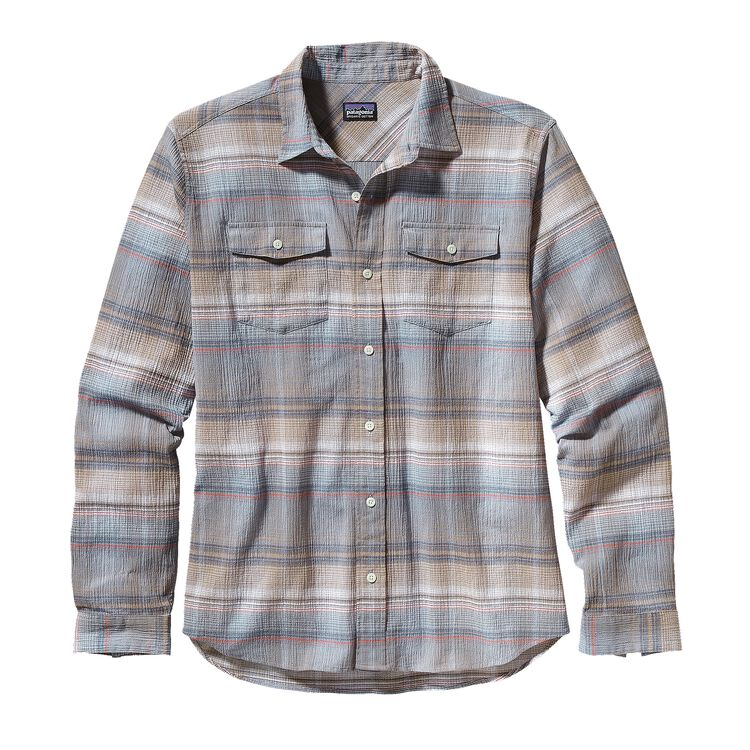 M'S L/S A/C STEERSMAN SHIRT, Plaskett: Bear Brown (PKBN)