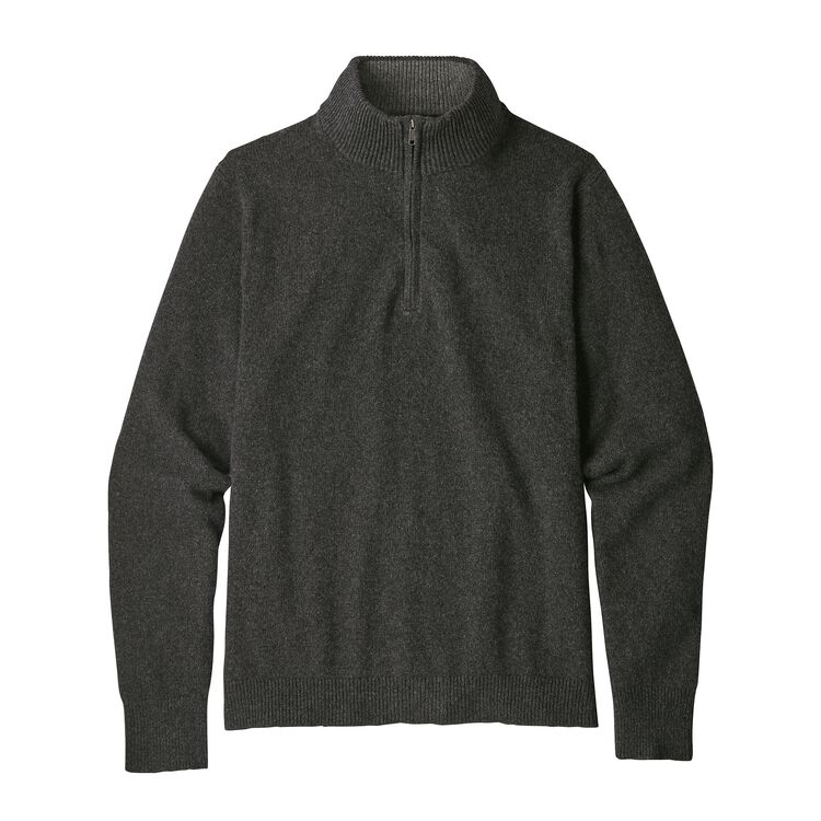 M'S RECYCLED CASHMERE 1/4-ZIP SWEATER, Forge Grey (FGE)