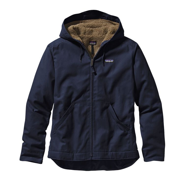 M'S LINED CANVAS HOODY, Navy Blue (NVYB)