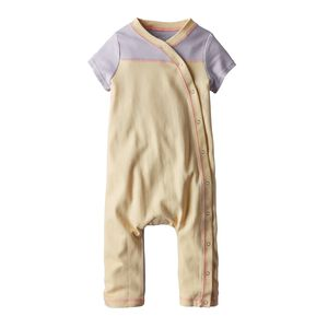 Baby Cozy Cotton One-Piece, Cove Stripe: Feather Pink (CVFP)