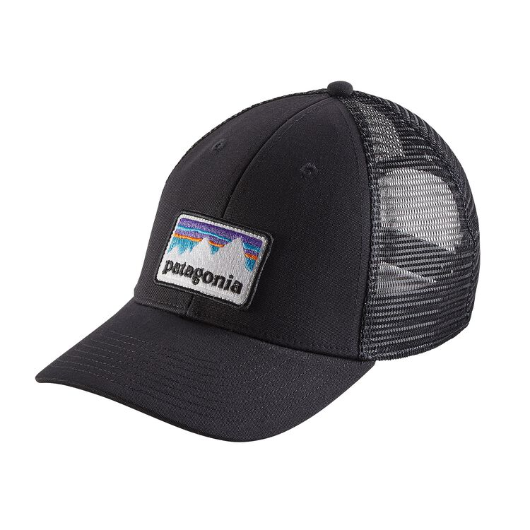 SHOP STICKER PATCH LOPRO TRUCKER HAT, Black (BLK)