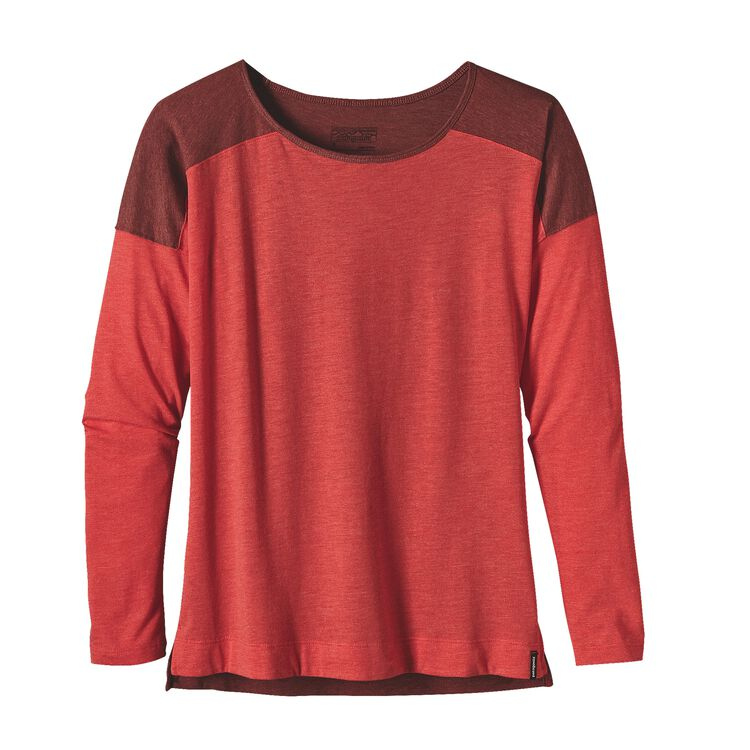 W'S LW L/S LAYERING TOP, French Red (FRR)