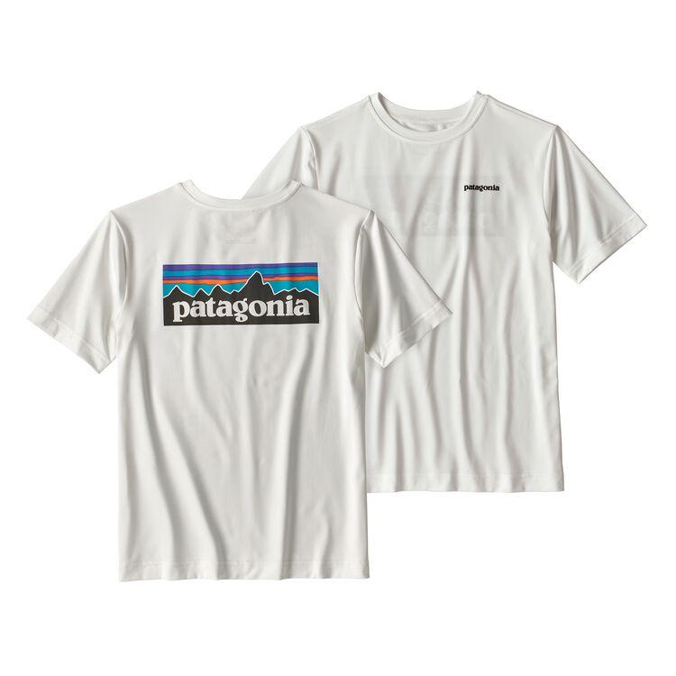 ボーイズ・キャプリーン・シルクウェイト・グラフィック・ティー, P-6 Logo: White (PLWT)