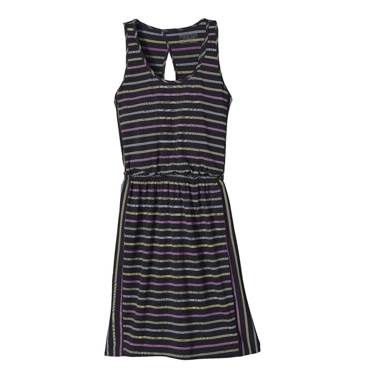W'S WEST ASHLEY DRESS, Big Frank Stripe: Black (BFKB)