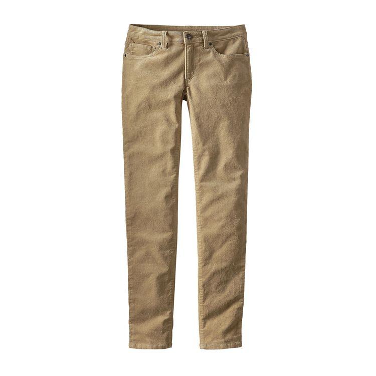 W'S FITTED CORDUROY PANTS, El Cap Khaki (ELKH)