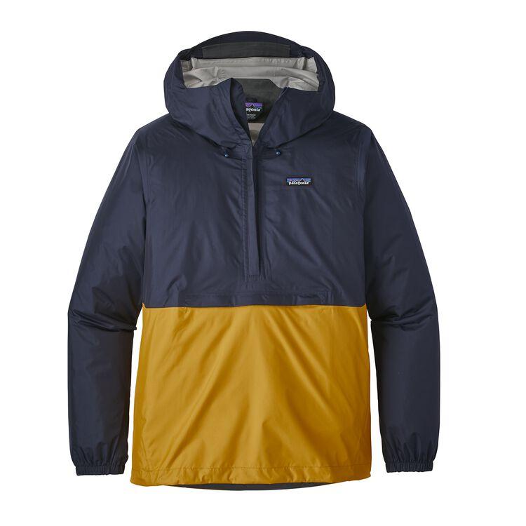 メンズ・トレントシェル・プルオーバー, Navy Blue w/Rugby Yellow (NARU)
