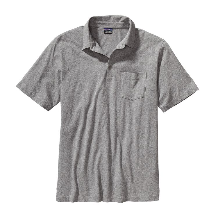 M'S SQUEAKY CLEAN POLO, Feather Grey (FEA-950)