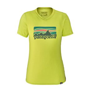 W's Capilene® Daily Graphic T-Shirt, Fitz Roy Sunfade: Celery Green X-Dye (FZCE)