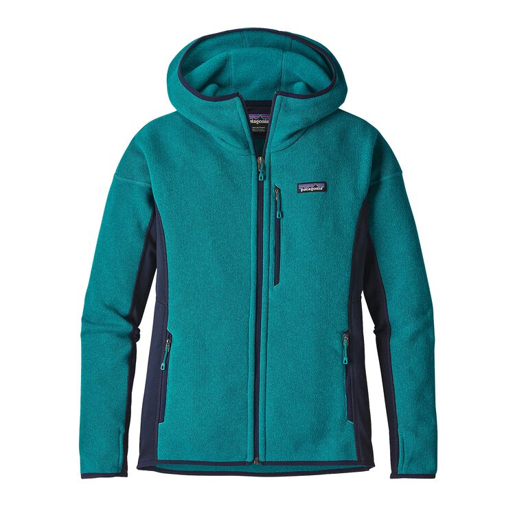 W'S PERFORMANCE BETTER SWEATER HOODY, Elwha Blue (ELWB)
