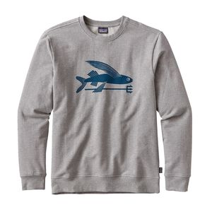 M'S FLYING FISH MW CREW SWEATSHIRT, Feather Grey w/Big Sur Blue (FGBS)