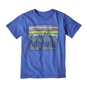 Baby Fitz Roy Skies Organic Cotton T-Shirt, Imperial Blue (IMB)