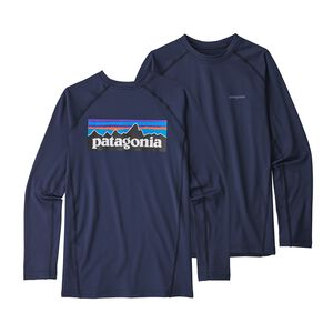 Boys' Long-Sleeved Silkweight Rashguard, Classic Navy (CNY)