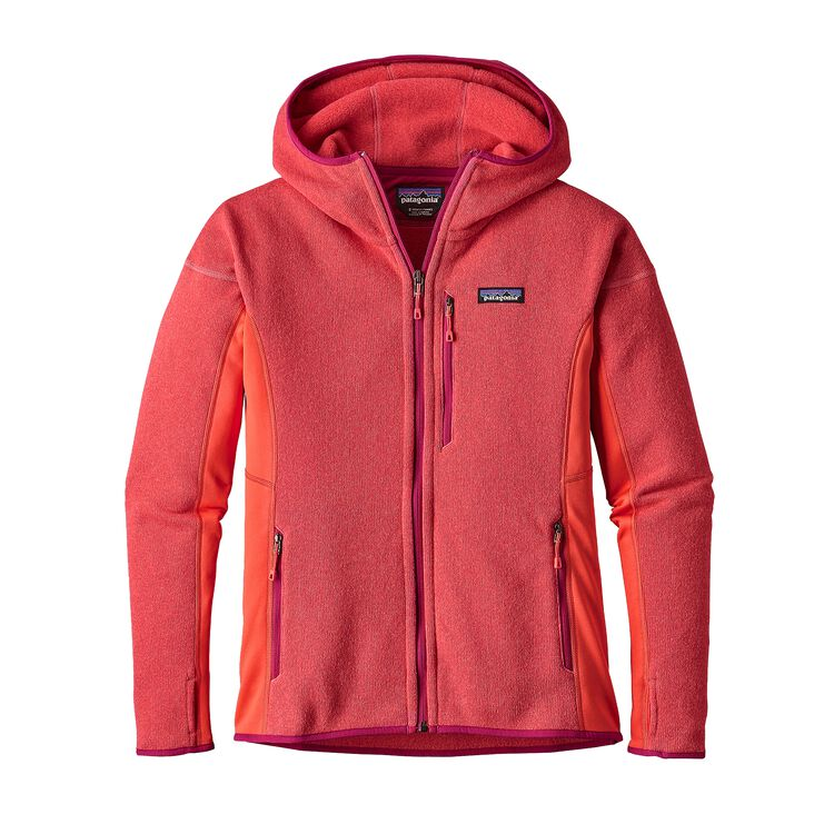 W'S PERFORMANCE BETTER SWEATER HOODY, Carve Coral (CRVC)