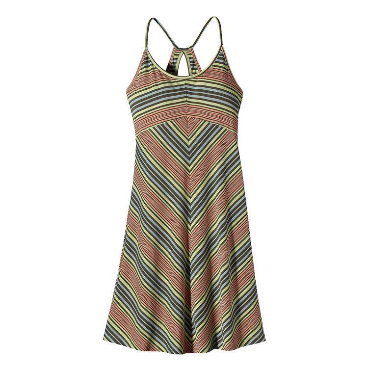 ウィメンズ・スプライト・ドレス, Sideswept Stripe: Mayan Yellow (SWMY)