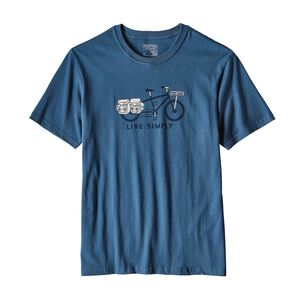 メンズ・リブ・シンプリー・カーゴ・バイク・コットン・Tシャツ, Glass Blue (GLSB)