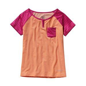 ガールズ・キャプリーン1・シルクウェイト・Tシャツ, Peach Sherbet (PCHS)