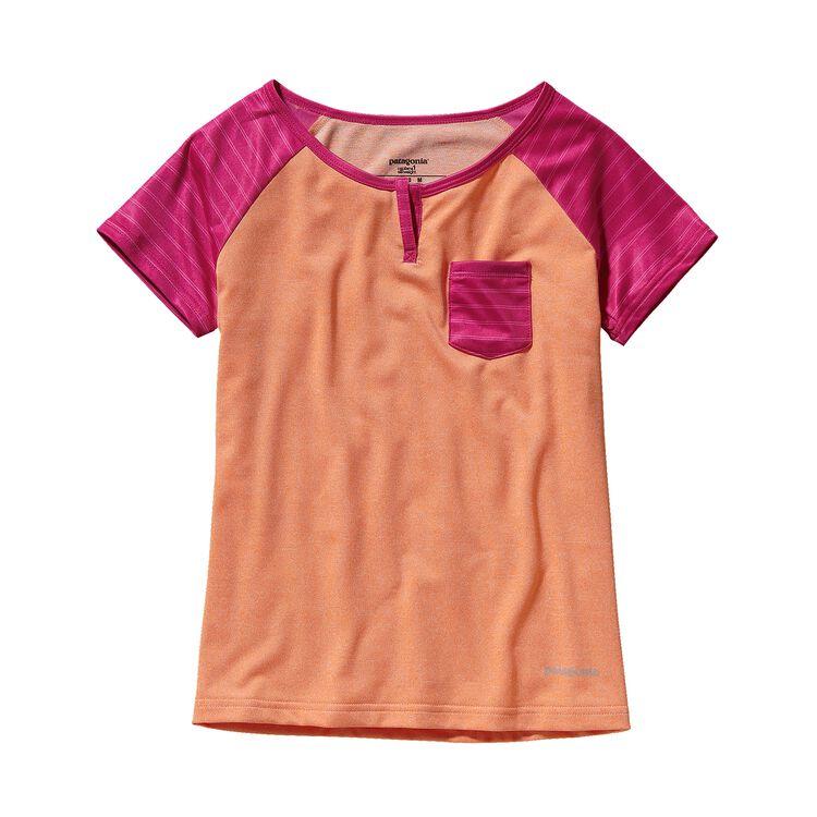GIRLS' CAP 1 SW T-SHIRT, Peach Sherbet (PCHS)