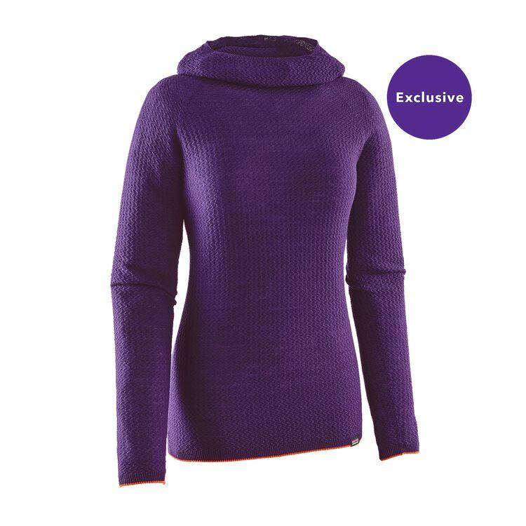 W'S MERINO AIR HOODY, Purple (PUR)