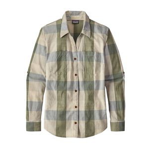W's Long-Sleeved Clean Color Top, Clean Plaid: Clean Mulberry Green (CLMG)