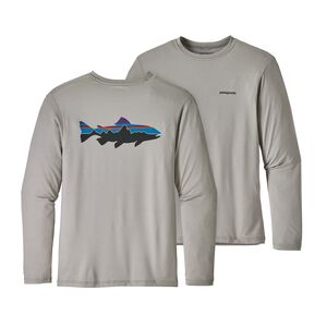 M's Graphic Tech Fish Tee, Fitz Roy Trout: Drifter Grey (FRDR)