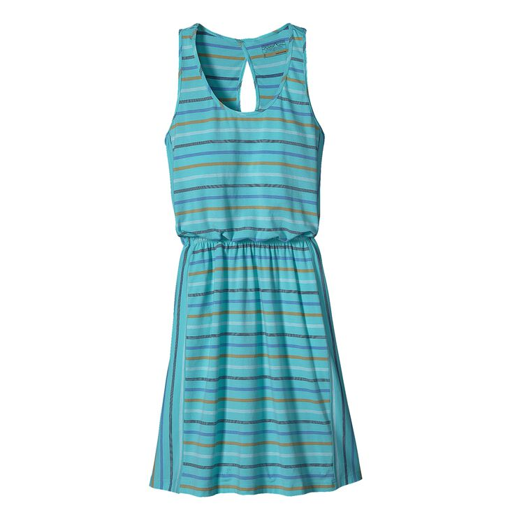 W'S WEST ASHLEY DRESS, Big Frank Stripe: Howling Turquoise (BFTQ)