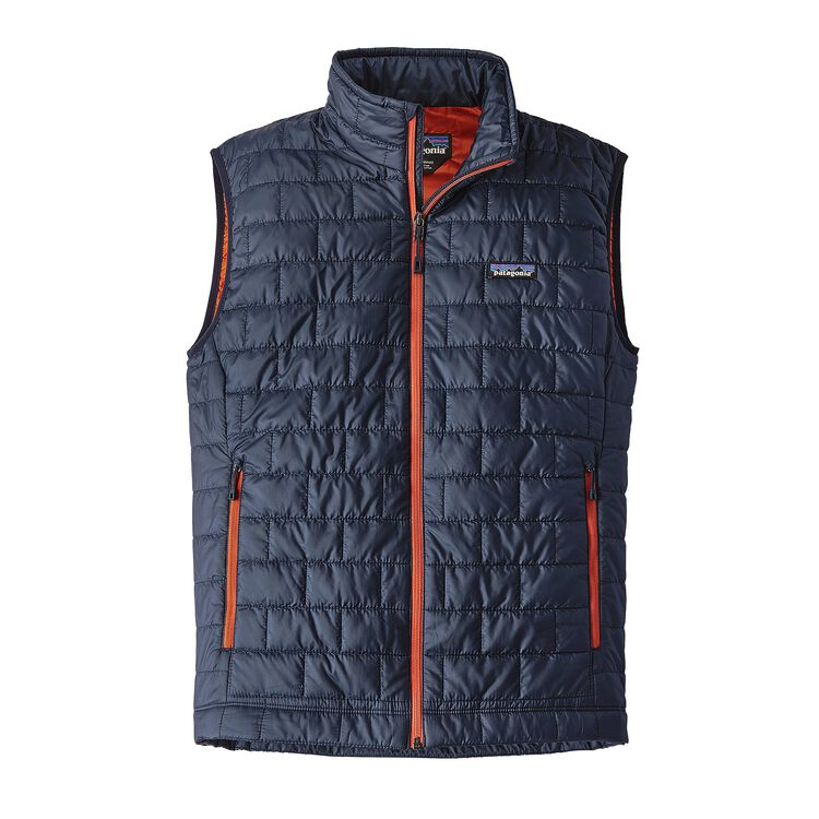 M'S NANO PUFF VEST, Navy Blue w/Paintbrush Red (NPTR)
