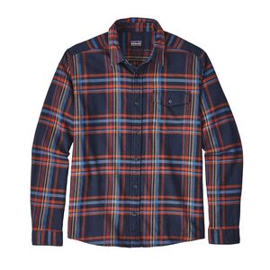 M's Long-Sleeved Lightweight Fjord Flannel Shirt, Watershed: Navy Blue (WSNV)