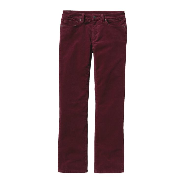 W'S CORDUROY PANTS - SHORT, Oxblood Red (OXRD)
