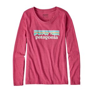 Girls' Long-Sleeved Pastel P-6 Logo Cotton/Poly T-Shirt, Craft Pink (CFTP)