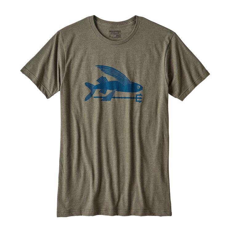メンズ・フライング・フィッシュ・コットン/ポリ・Tシャツ, Industrial Green (INDG)