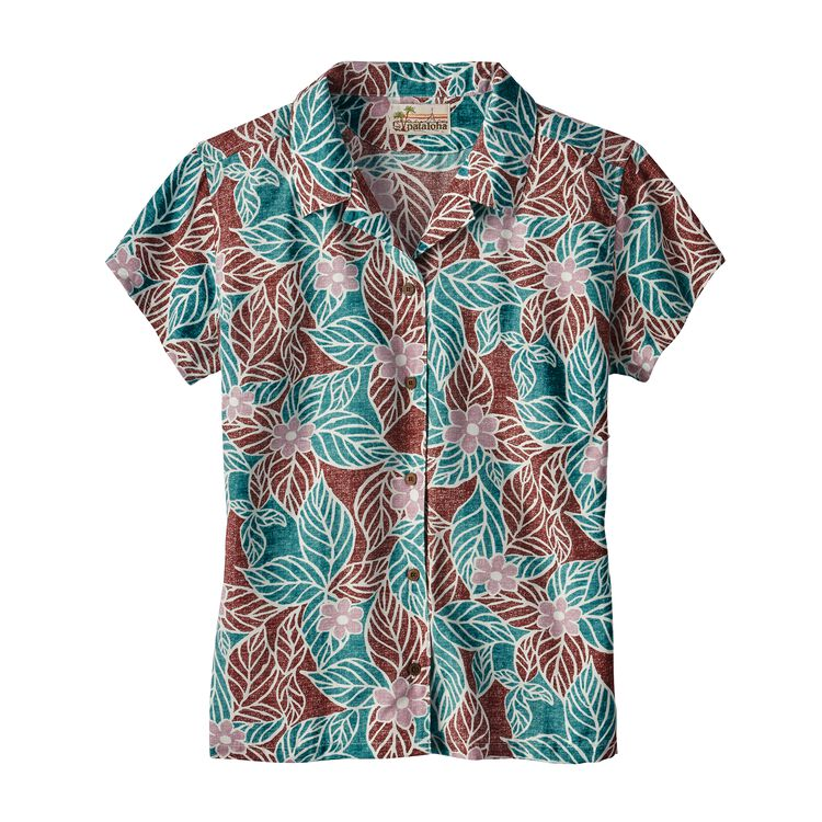 W'S LW PATALOHA SHIRT, Mountain Dogwood: Dark Ruby (MWDR)