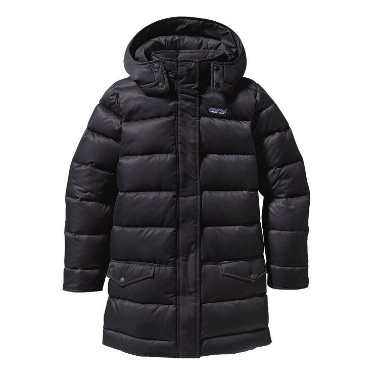 GIRLS' DOWN FOR FUN COAT, Black (BLK)